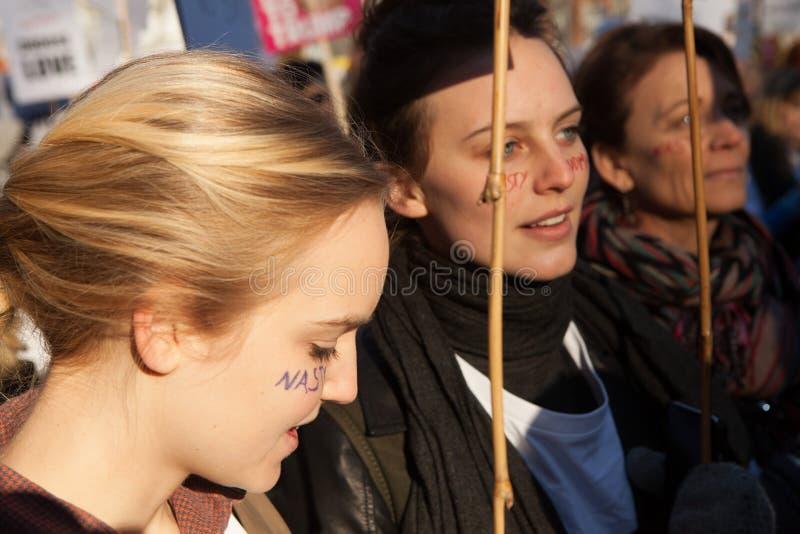 ` S mars Londres, 2017 de femmes photographie stock libre de droits