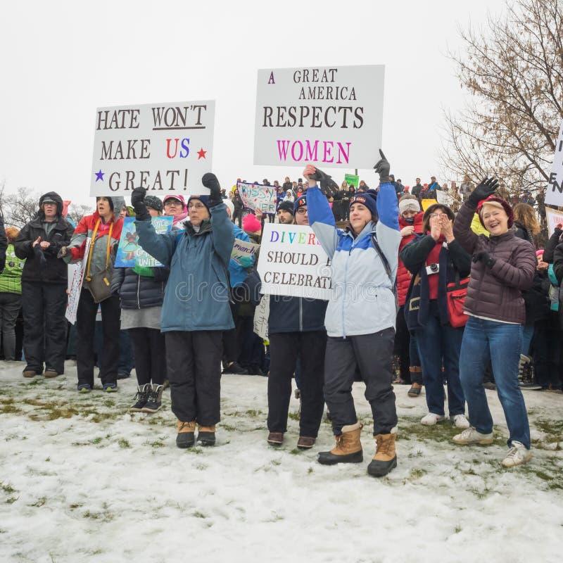 ` S mars, Saint Paul, Minnesota, Etats-Unis de femmes images libres de droits