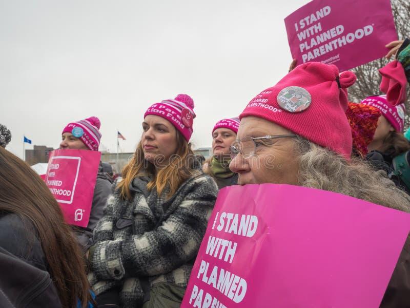 ` S mars, Saint Paul, Minnesota, Etats-Unis de femmes images stock