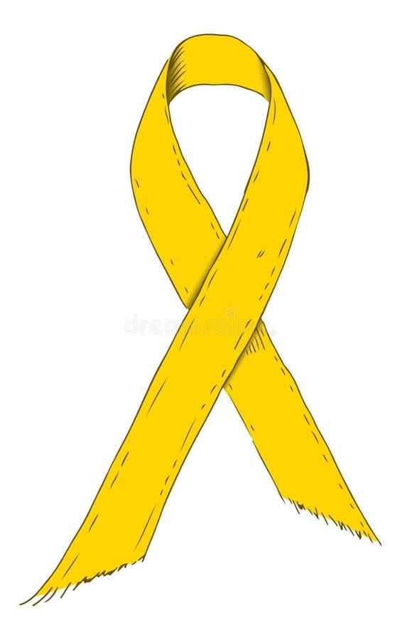 S?mbolo amarillo de la cinta Icono del Bosquejo-estilo S?mbolo muestra Ilustraci?n com?n del vector libre illustration