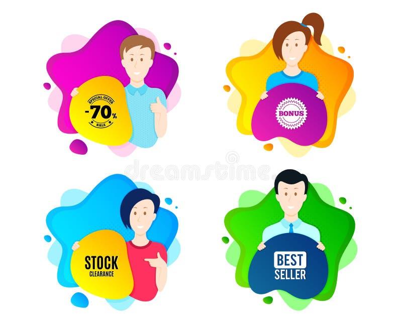 S?mbolo com?n de la liquidaci?n Muestra del precio de oferta especial Vector ilustración del vector