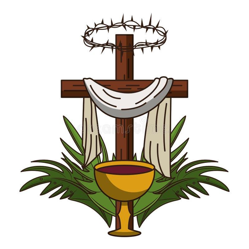 S?mbolo cruzado cristiano libre illustration