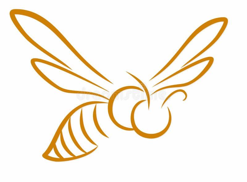 S?mbolo da abelha do voo ilustração stock
