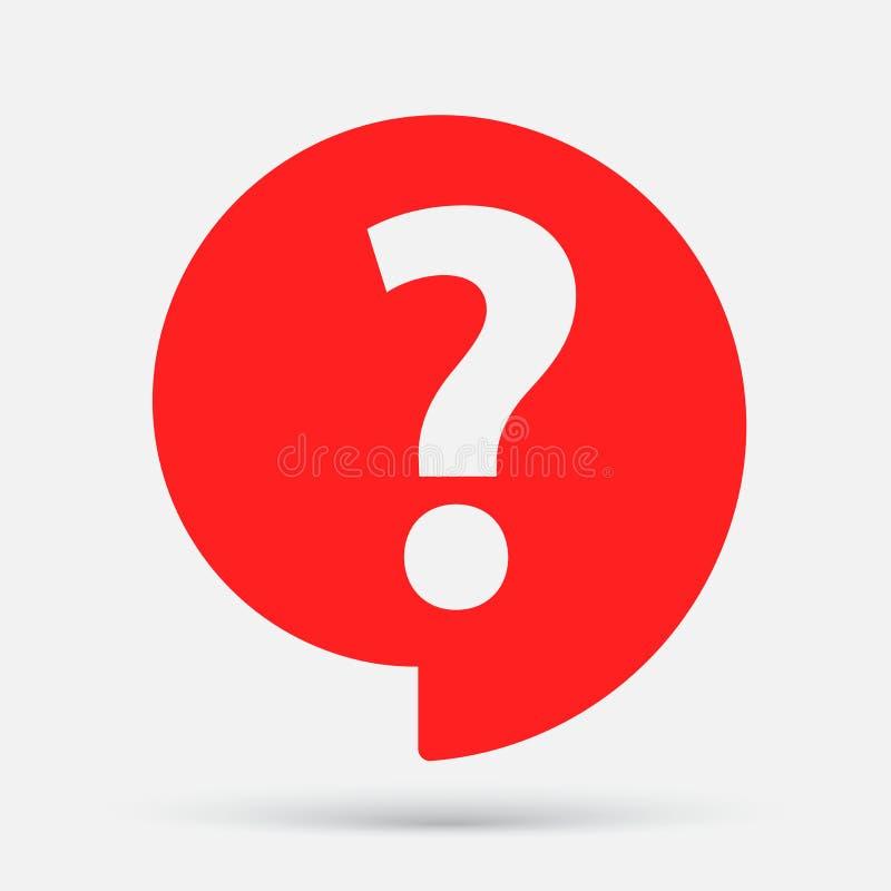 S?mbolo da bolha do discurso da ajuda Perguntas Frequentes ?cone do ponto de interroga??o ilustração stock
