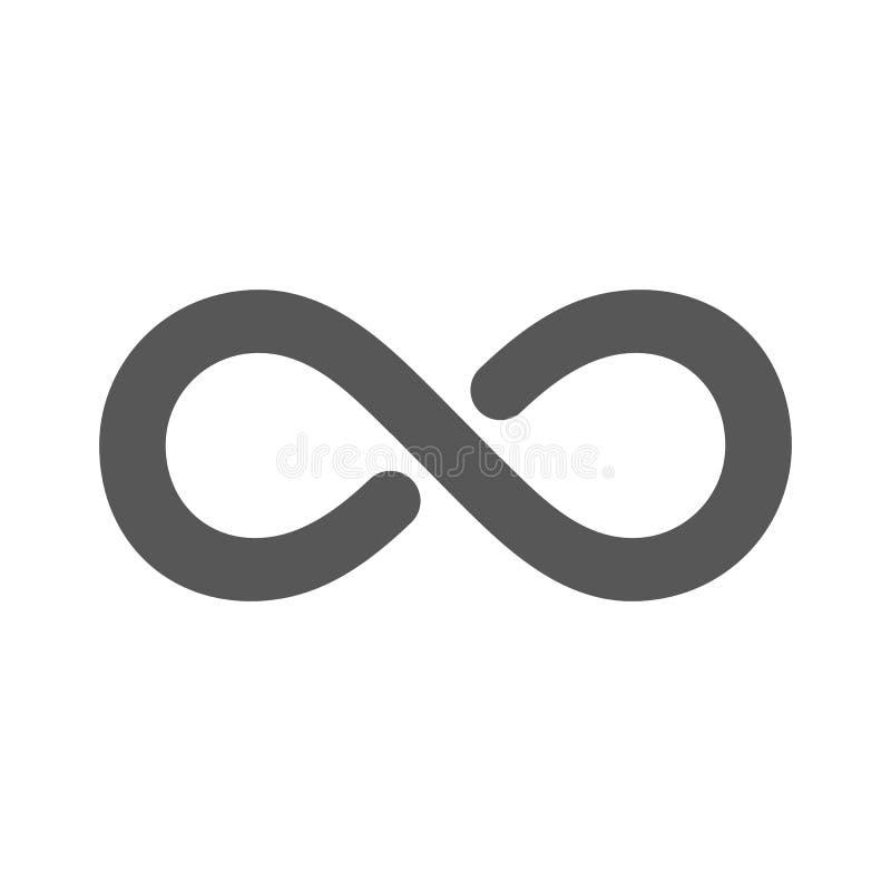 S?mbolo da infinidade Ilustra??o do vetor Isolaited no fundo branco ilustração do vetor