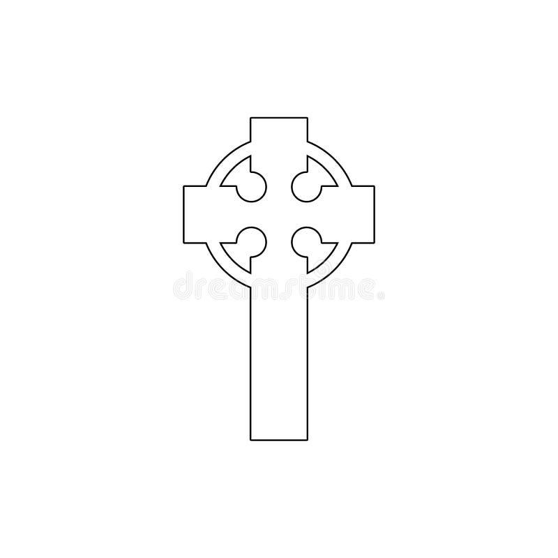 S?mbolo da religi?o, ?cone transversal celta do esbo?o Elemento da ilustra??o do s?mbolo da religi?o Os sinais e o ?cone dos s?mb ilustração do vetor