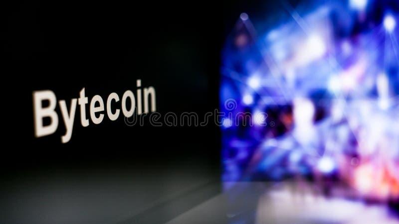S?mbolo de Cryptocurrency comportamiento de los intercambios del cryptocurrency, concepto Tecnolog?as financieras modernas foto de archivo libre de regalías