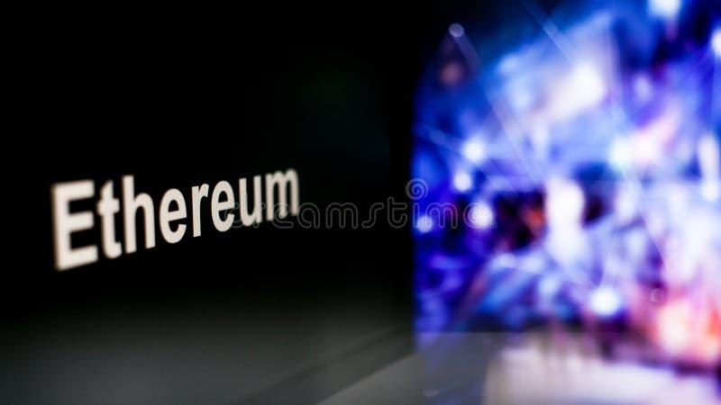 S?mbolo de Cryptocurrency comportamiento de los intercambios del cryptocurrency, concepto Tecnolog?as financieras modernas imagen de archivo libre de regalías