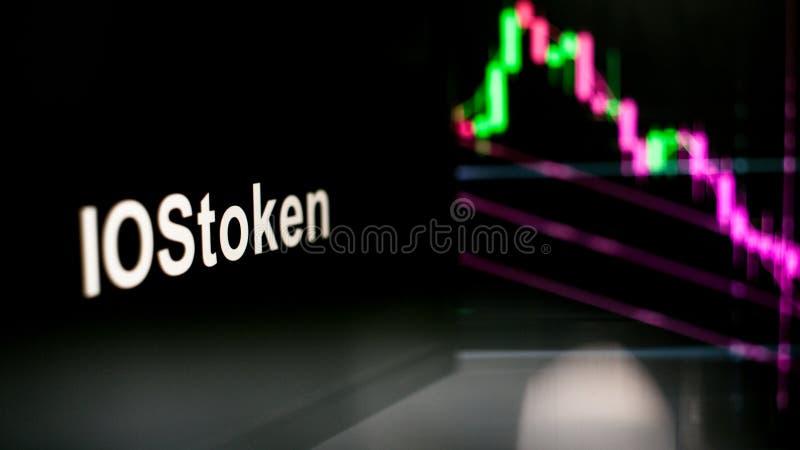 S?mbolo de Cryptocurrency El comportamiento de los intercambios del cryptocurrency, concepto Tecnolog?as financieras modernas fotografía de archivo libre de regalías