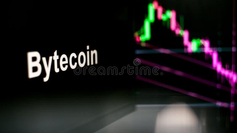 S?mbolo de Cryptocurrency El comportamiento de los intercambios del cryptocurrency, concepto Tecnolog?as financieras modernas imágenes de archivo libres de regalías
