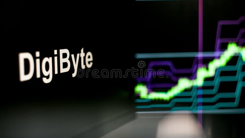 S?mbolo de Cryptocurrency El comportamiento de los intercambios del cryptocurrency, concepto Tecnolog?as financieras modernas fotos de archivo libres de regalías