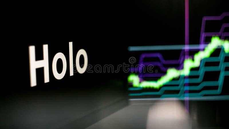 S?mbolo de Cryptocurrency El comportamiento de los intercambios del cryptocurrency, concepto Tecnolog?as financieras modernas fotografía de archivo