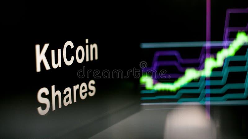 S?mbolo de Cryptocurrency El comportamiento de los intercambios del cryptocurrency, concepto Tecnolog?as financieras modernas imagen de archivo
