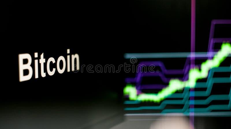 S?mbolo de Cryptocurrency El comportamiento de los intercambios del cryptocurrency, concepto Tecnolog?as financieras modernas foto de archivo