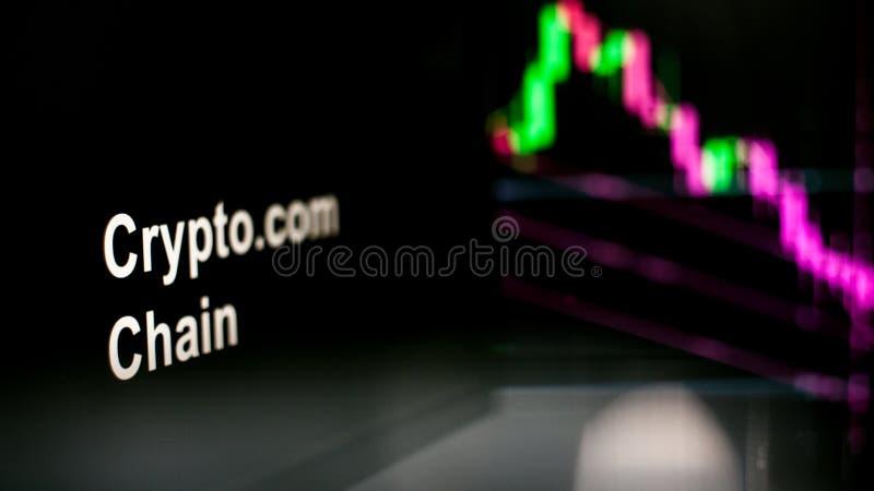 S?mbolo de Cryptocurrency O comportamento das trocas do cryptocurrency, conceito Tecnologias financeiras modernas fotografia de stock