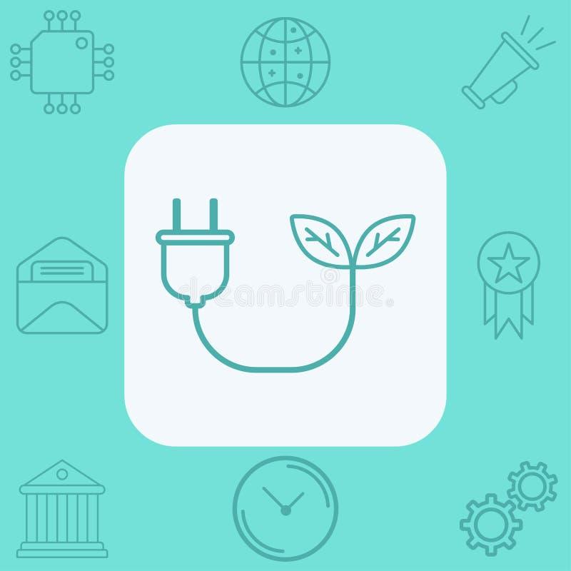 S?mbolo de la muestra del icono del vector de la energ?a de la biomasa ilustración del vector