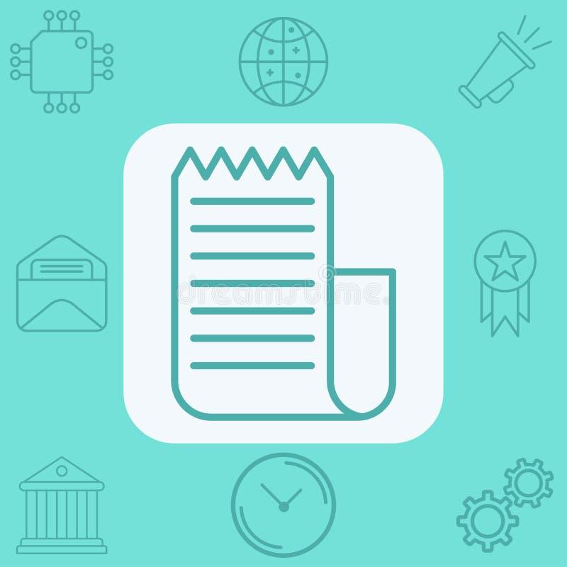 S?mbolo de la muestra del icono del vector de la factura stock de ilustración