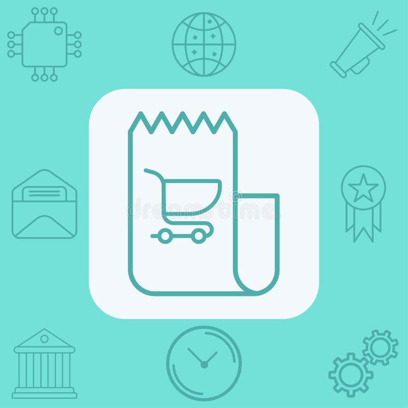 S?mbolo de la muestra del icono del vector de la factura libre illustration