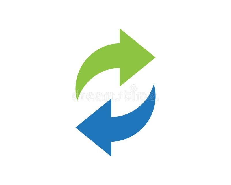 s?mbolo de la transferencia de datos bidireccional de las flechas libre illustration