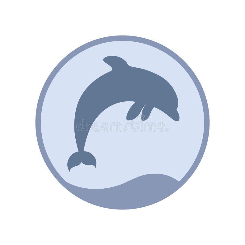 S?mbolo de salto do golfinho ilustração do vetor