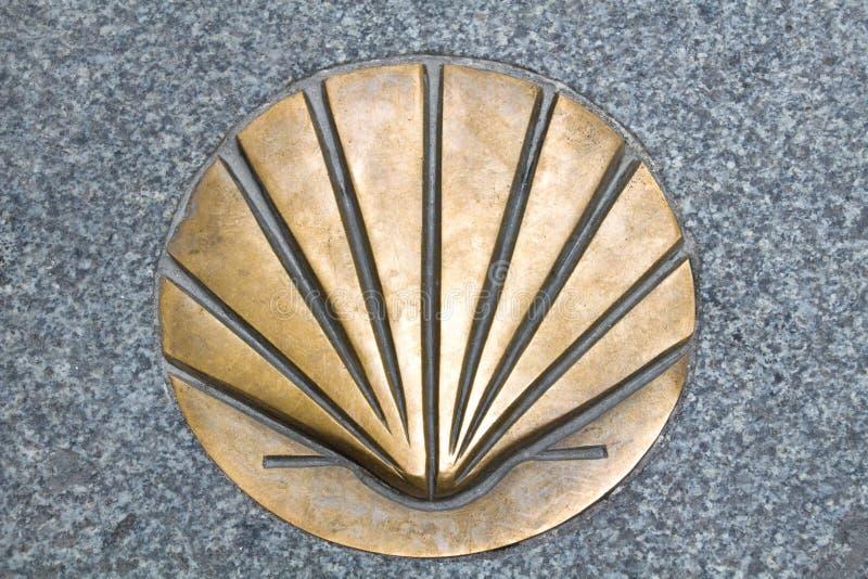 S?mbolo de Shell del Camino de Santiago imágenes de archivo libres de regalías