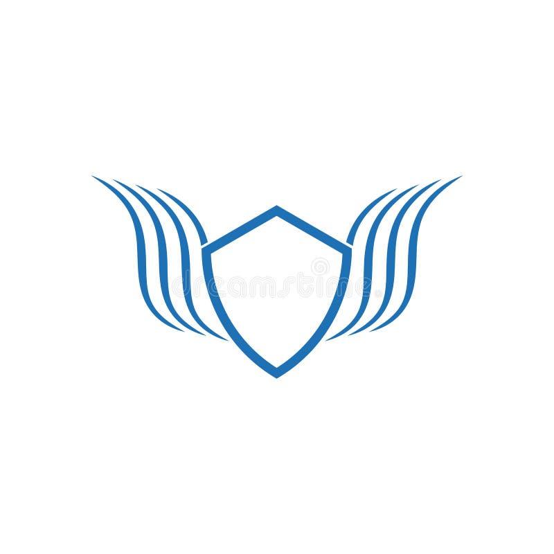 S?mbolo del escudo ilustración del vector