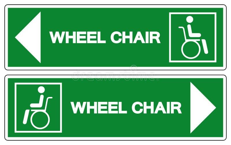 S?mbolo del hospital de la silla de rueda, ejemplo del vector, aislante en el icono blanco del fondo EPS10 libre illustration