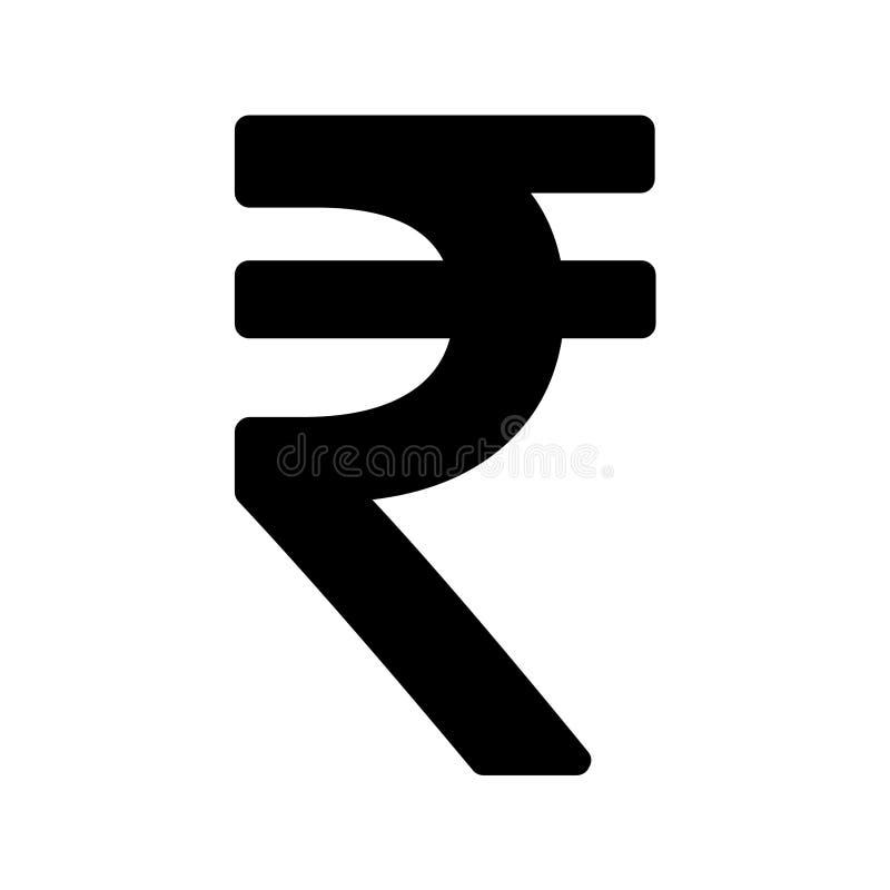 S?mbolo del icono de la rupia india aislado en el fondo blanco Ejemplo del dinero del vector ilustración del vector