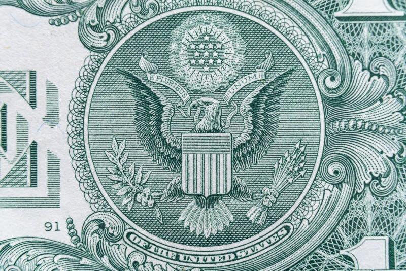 S?mbolo del sistema de Estados Unidos Federal Reserve, logotipo de Eagle - cierre ultra macro para arriba fotos de archivo
