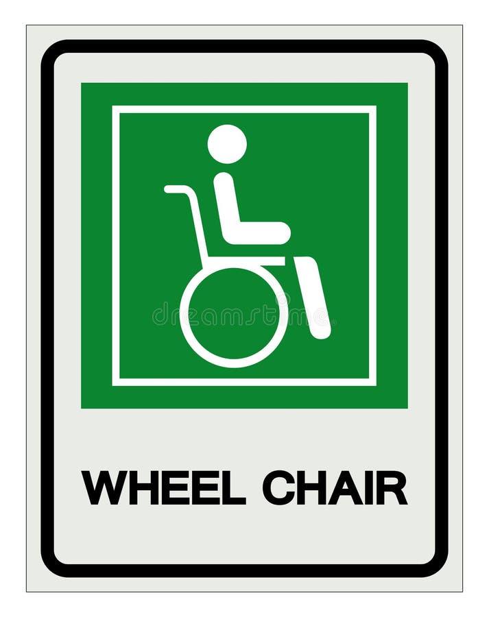 S?mbolo do hospital da cadeira de roda, ilustra??o do vetor, isolado no ?cone branco do fundo EPS10 ilustração stock