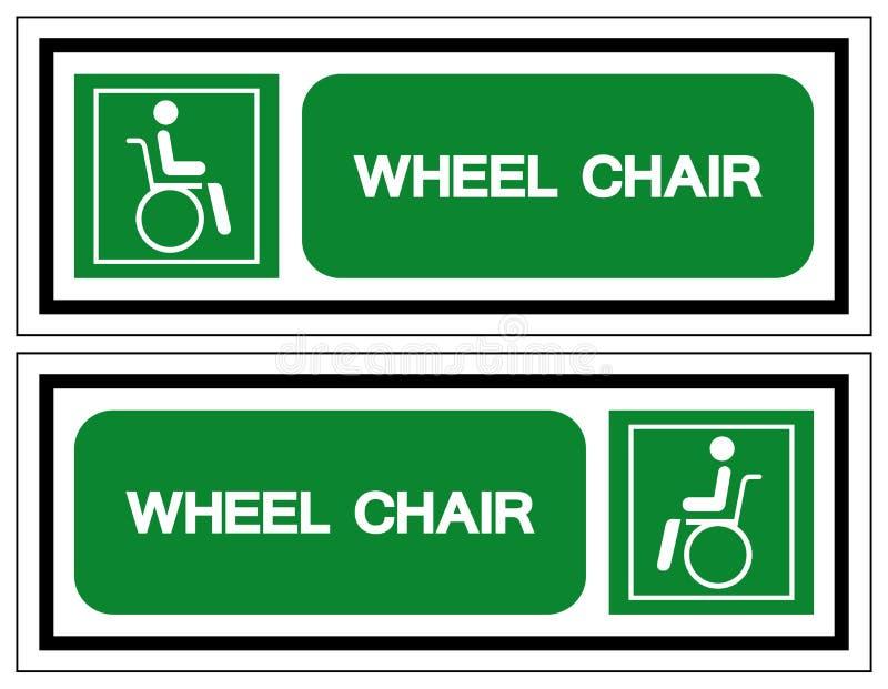 S?mbolo do hospital da cadeira de roda, ilustra??o do vetor, isolado no ?cone branco do fundo EPS10 ilustração royalty free