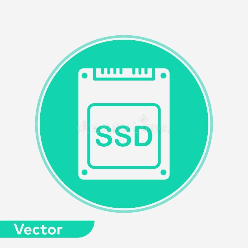 S?mbolo do sinal do ?cone do vetor do SSD ilustração do vetor