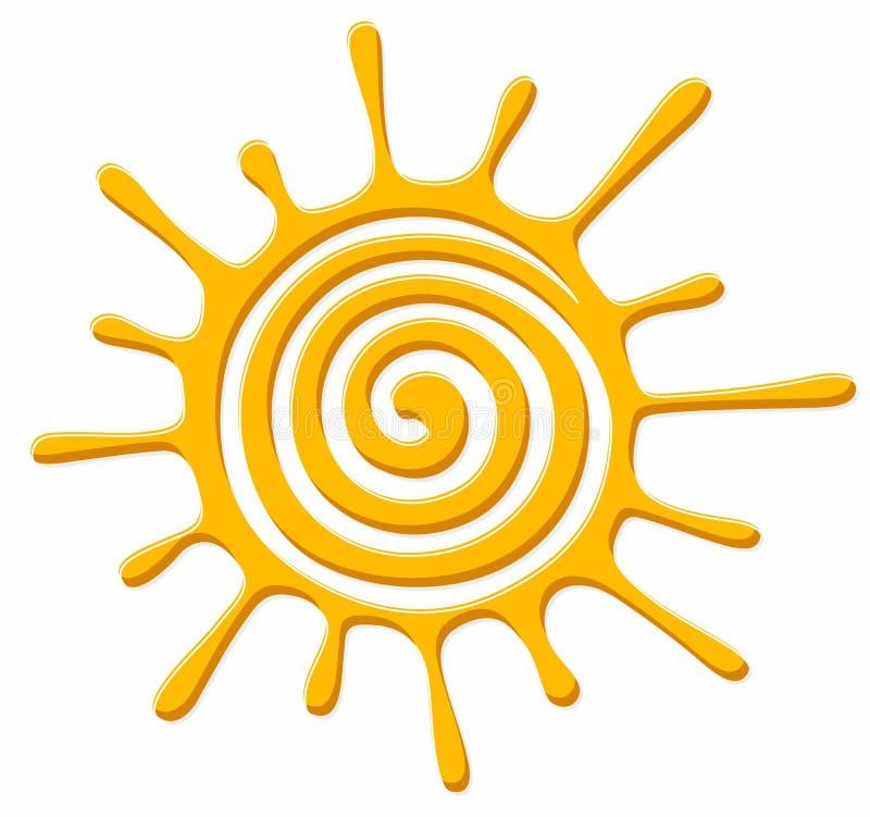S?mbolo do sol brilhante ilustração stock
