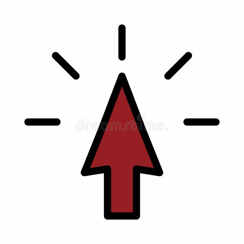 S?mbolo ou ilustra??o do logotipo do vetor do ?cone do clique ilustração do vetor