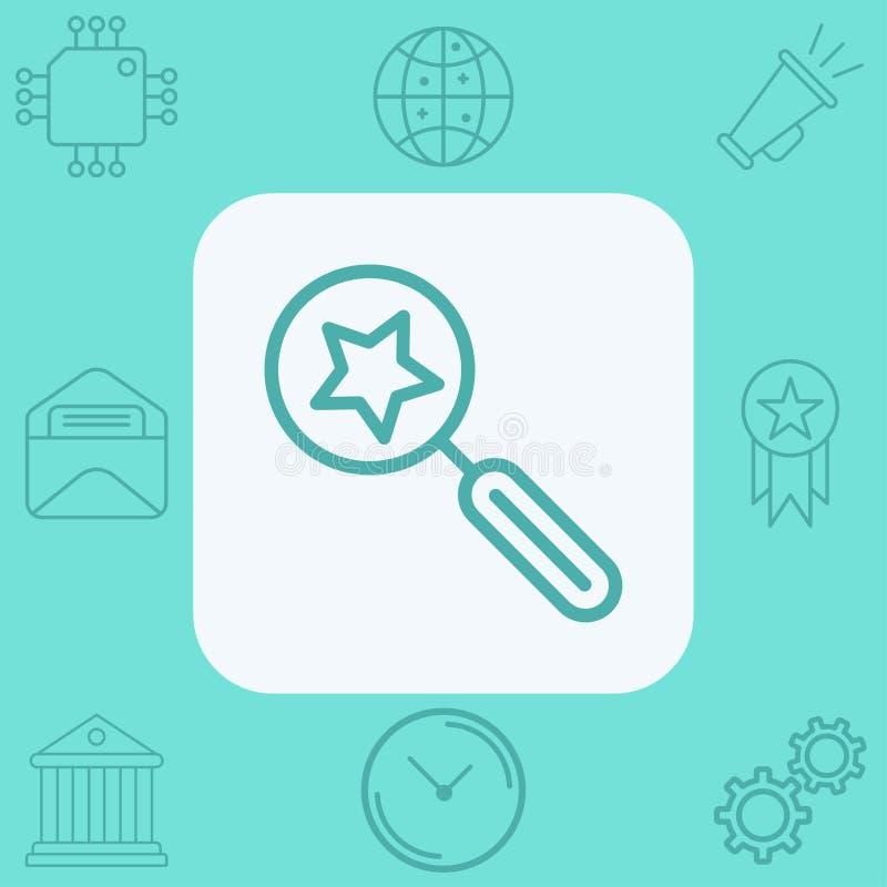 S?mbolo preferido de la muestra del icono del vector stock de ilustración