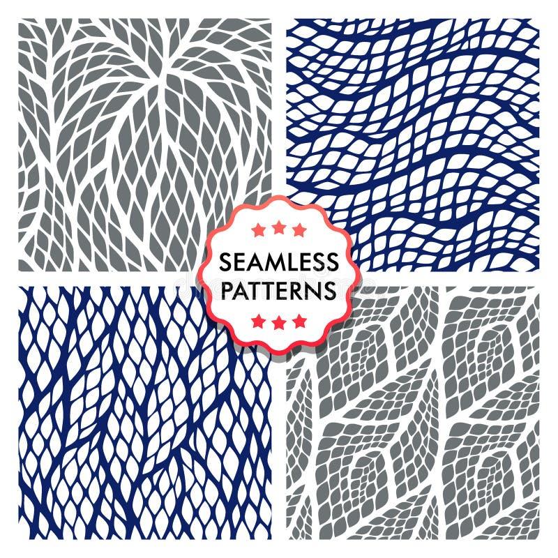S?ml?s abstrakt modell med f?rgrika romber Reptilar flår texturer vektor illustrationer