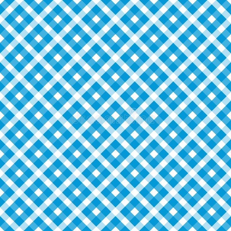 s?ml?s bl? vit rutig Oktoberfest bakgrund royaltyfri illustrationer