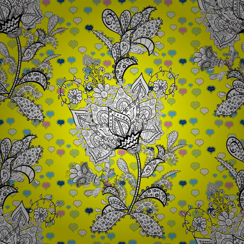 S?ml?s blom- modell med blommor, vattenf?rg stock illustrationer