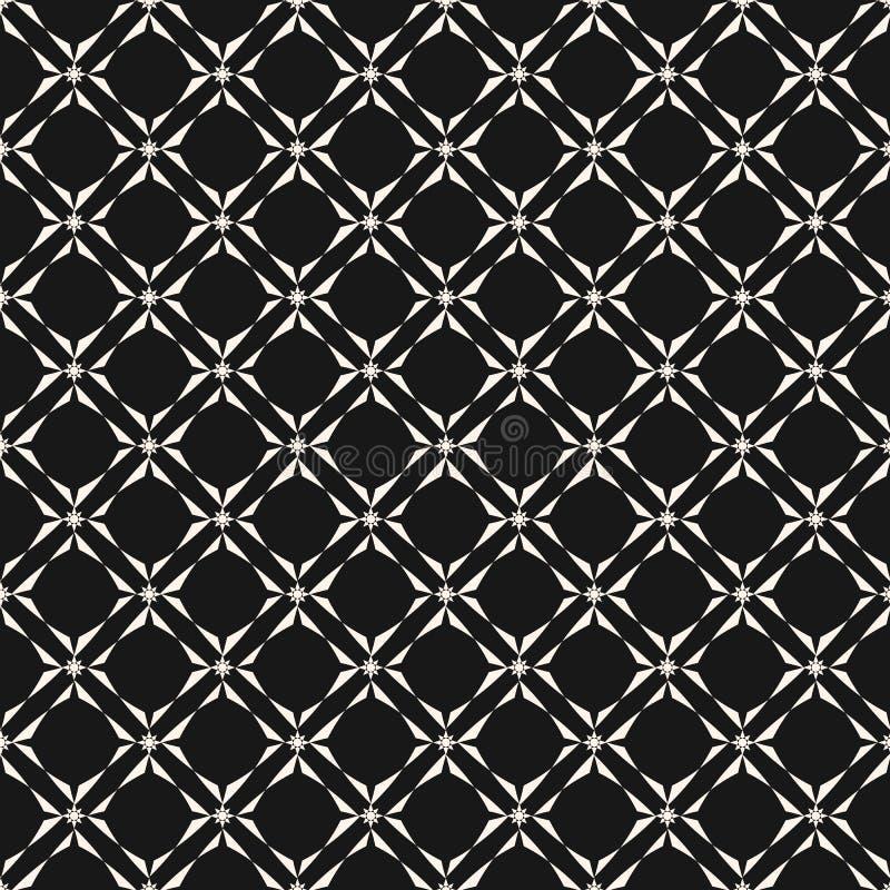 S?ml?s modell f?r geometriskt raster Svartvit abstrakt bakgrund f?r vektor stock illustrationer