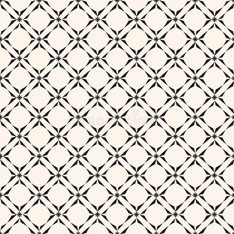 S?ml?s modell f?r geometriskt raster Svartvit abstrakt bakgrund f?r vektor royaltyfri illustrationer