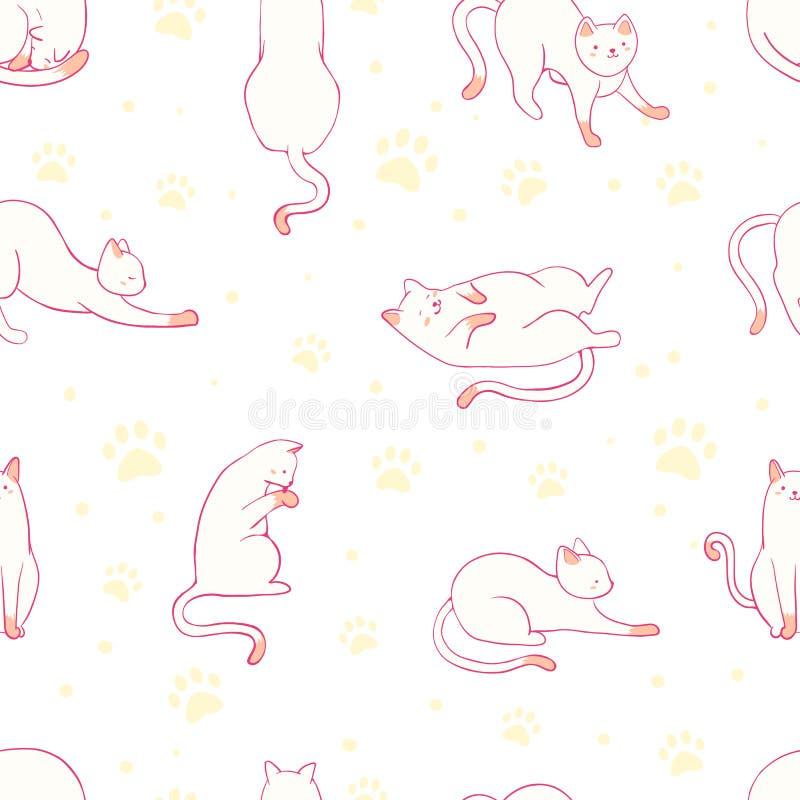 S?ml?s modell f?r gullig katt Daltar att ansa eller veterinär- stock illustrationer