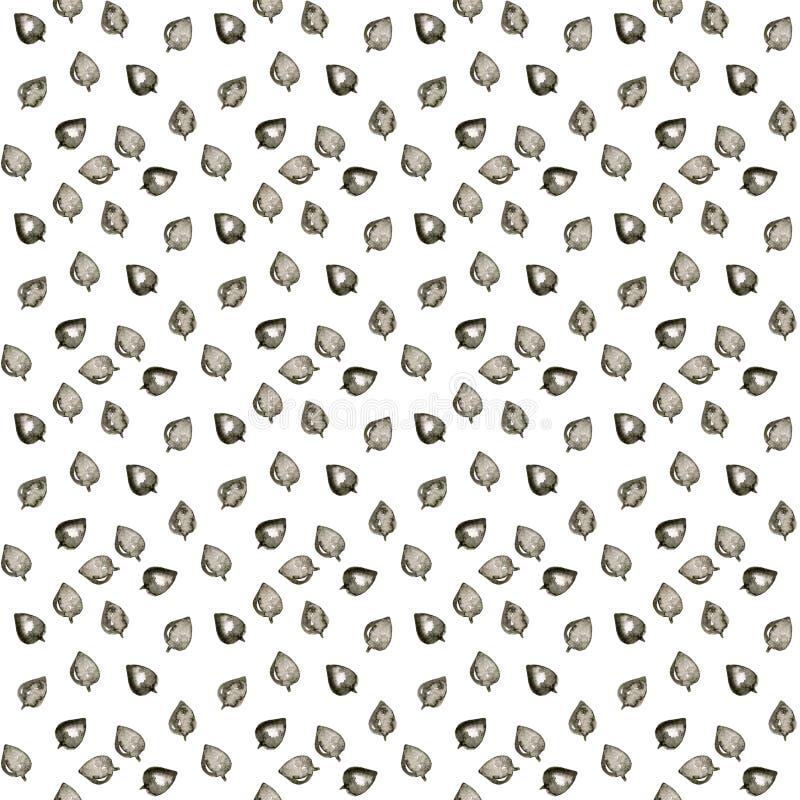 S?ml?s modell f?r gulligt blad Abstrakt tryck med sidor Elegant h?rlig naturprydnad f?r tyg, inpackning och textil royaltyfri fotografi