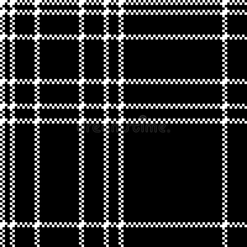 S?ml?s modell f?r monokromt PIXEL f?r kontrollpl?dsvart vektor illustrationer