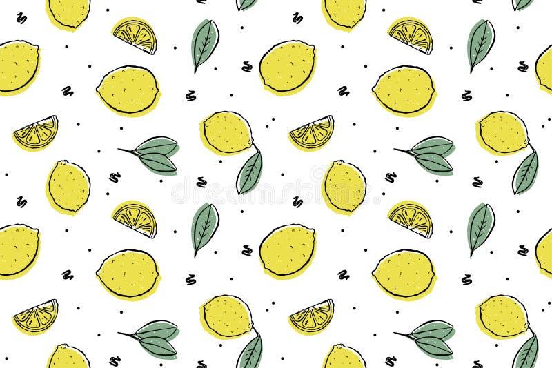 S?ml?s modell f?r ny citron vektor illustrationer