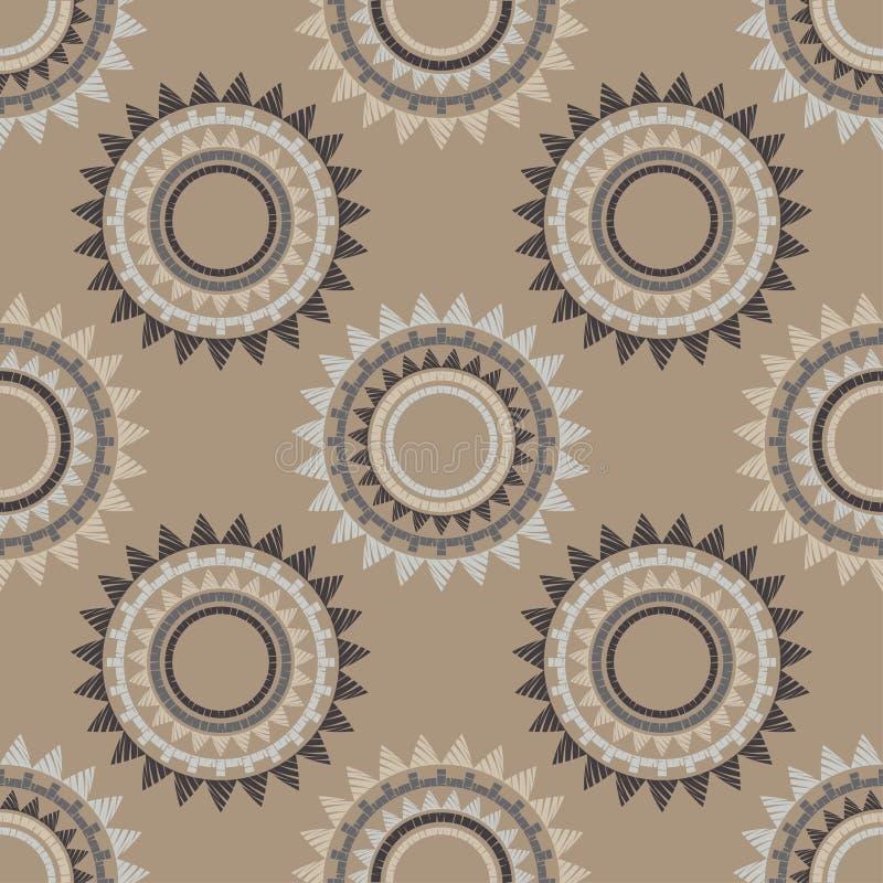 S?ml?s modell f?r prick Mosaik av etniska diagram _ gammal textur geometrisk bakgrund vektor illustrationer