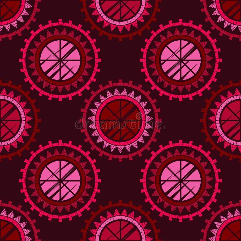 S?ml?s modell f?r prick Mosaik av etniska diagram _ gammal textur geometrisk bakgrund royaltyfri illustrationer