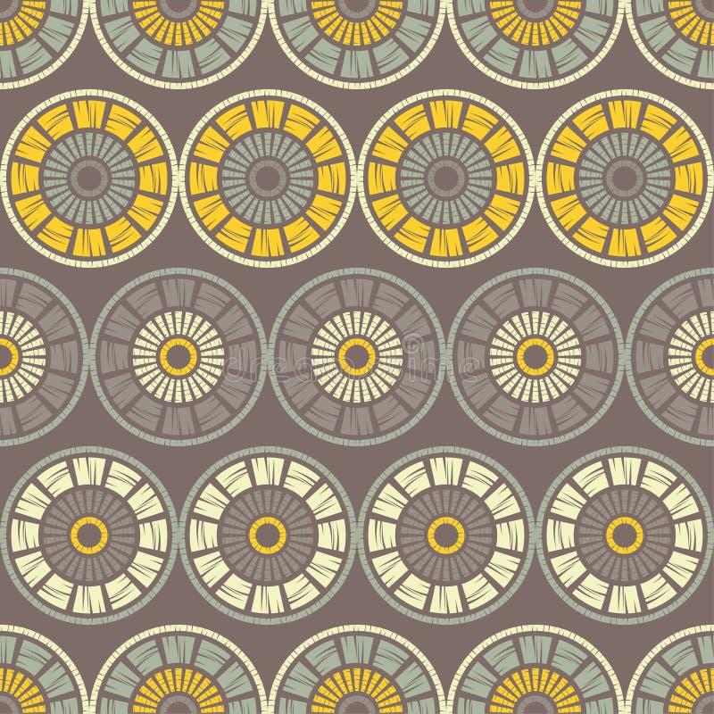 S?ml?s modell f?r prick Mosaik av etniska diagram geometrisk bakgrund royaltyfri illustrationer