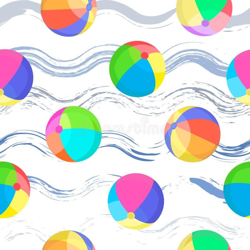 S?ml?s modell f?r f?rgrika bollar royaltyfri illustrationer