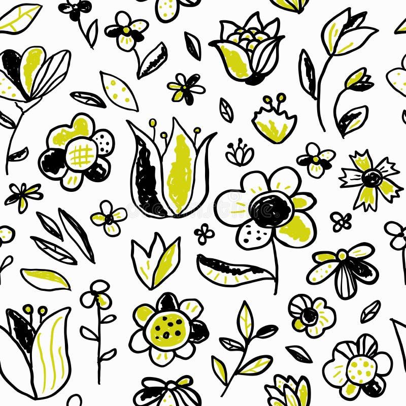 S?ml?s modell med blommor p? en vit bakgrund vektor illustrationer