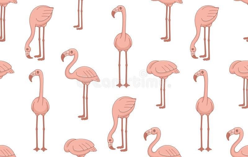 S?ml?s modell med rosa flamingo stock illustrationer